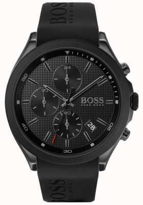 Boss | prędkość mężczyzn | czarny gumowy pasek | czarna tarcza | 1513720