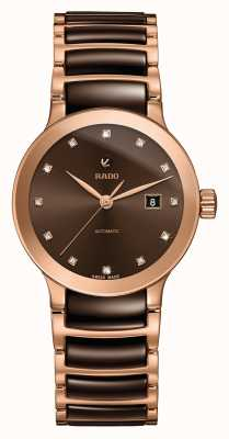 RADO Automatyczny zegarek ceramiczny z diamentami Centrix R30183752
