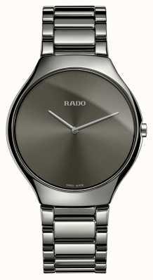 Rado Prawdziwie cienki szary ceramiczny bransoletka szary zegarek z tarczą R27955122