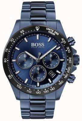 BOSS | męskie | hero sport lux | niebieska stalowa bransoletka | niebieska tarcza | 1513758
