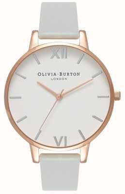 Olivia Burton | damskie | duża tarcza | szary wegański pasek | OB16BDV02