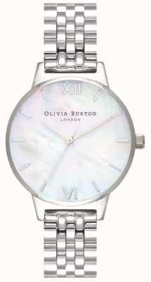 Olivia Burton | damskie | tarcza z masy perłowej | bransoleta ze stali nierdzewnej | OB16MOP02