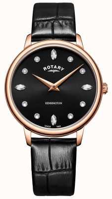 Rotary | kensington dla kobiet | swarovski kryształowa czarna tarcza | LS05174/04