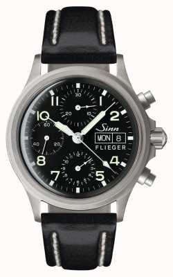 Sinn 356 pilot tradycyjny chronograf (data w języku angielskim) 356.022-BL41201834001110402A