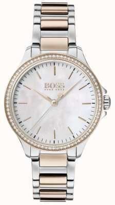 BOSS | diamenty dla niej | dwukolorowa bransoletka | masa perłowa 1502524