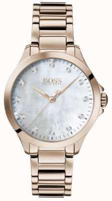 BOSS | diamenty dla niej | różowe złoto | masa perłowa | 1502523