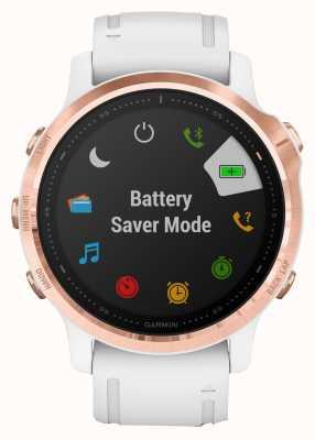 Garmin Fenix 6s pro | multisportowy smartwatch | biały pasek w kolorze różowego złota 010-02159-11