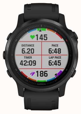 Garmin Fenix 6s pro szkło goryl | multisportowy smartwatch | czarny gumowy pasek 010-02159-14