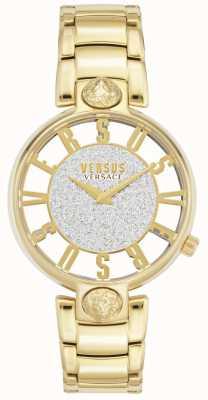 Versus Versace | kobiety Kirstenhof | bransoletka pozłacana | brokatowa tarcza VSP491419