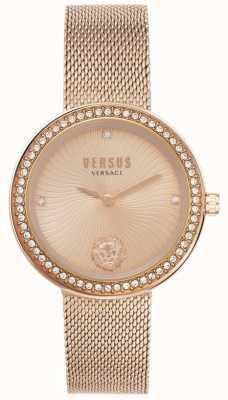 Versus Versace | léa dla kobiet | bransoletka z różowego złota | złota tarcza | VSPEN0919