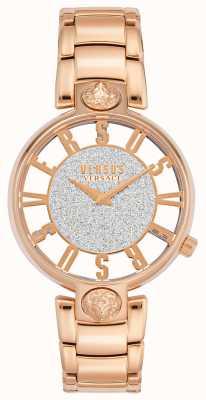 Versus Versace | kobiety Kirstenhof | bransoletka z różowego złota | brokatowa tarcza | VSP491519