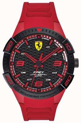 Scuderia Ferrari | wierzchołek męski | czerwony gumowy pasek | tarcza czarno-czerwona | 0830664
