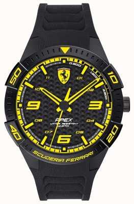 Scuderia Ferrari | wierzchołek męski | czarny gumowy pasek | tarcza czarno-żółta | 0830663