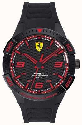 Scuderia Ferrari | wierzchołek męski | czarny gumowy pasek | tarcza czarno-czerwona | 0830662