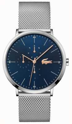 Lacoste | księżyc mężczyzn multi | bransoletka ze stali | niebieska tarcza | 2011024