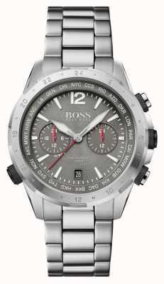 BOSS | koczownik | chronograf | bransoletka ze stali | szara tarcza | 1513774
