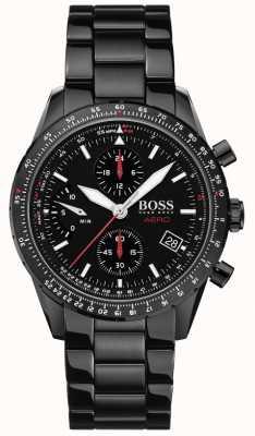 BOSS | aero | czarny chronograf | zegarek z czarną bransoletą | 1513771