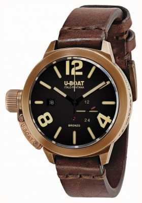 U-Boat Classico 50 bronzo brązowy pasek 8104