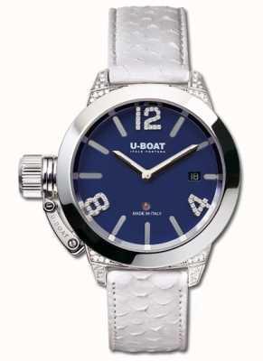U-Boat Niebieskie białe diamenty Classico 40 ss 7077