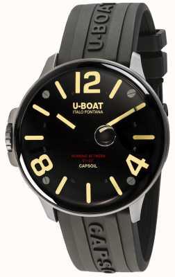U-Boat Elektromechanika capsoil ss | czarny gumowy pasek 8110/A