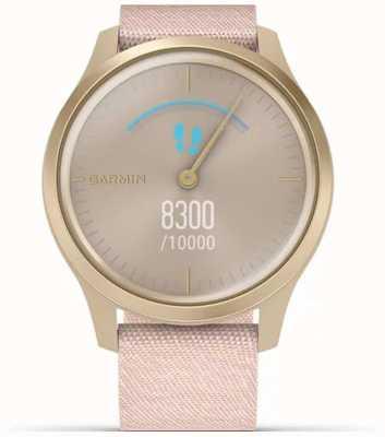 Garmin Styl Vivomove | jasna złota obudowa aluminiowa | różowy pasek 010-02240-02