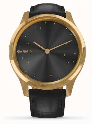 Garmin Vivomove luxe | 24-karatowa złota obudowa pvd | czarna włoska skóra 010-02241-02