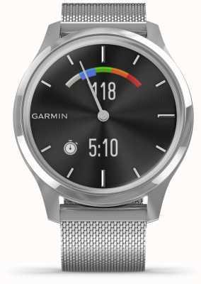 Garmin Vivomove luxe | obudowa ze stali nierdzewnej | srebrny zespół mediolański 010-02241-03