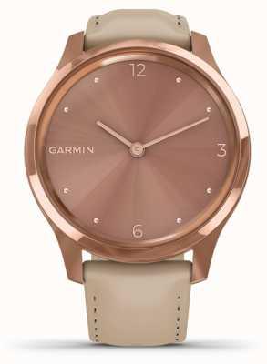 Garmin Vivomove luxe | 18-karatowe różowe pudełko na DVD | włoska skóra 010-02241-01