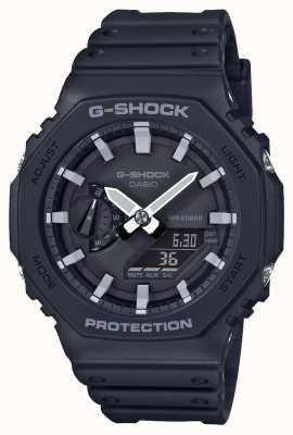 Casioak | rdzeń węglowy g-shock | seria ośmiokątów | czarny pasek z żywicy | GA-2100-1AER