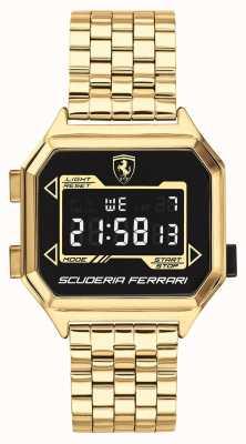 Scuderia Ferrari | digidrive dla mężczyzn | bransoletka pozłacana | czarna tarcza | 0830705