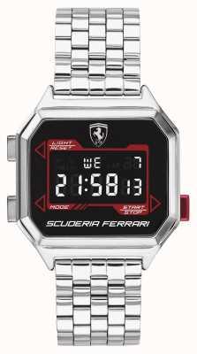 Scuderia Ferrari | digidrive dla mężczyzn | bransoleta ze stali nierdzewnej | czarna tarcza | 0830703