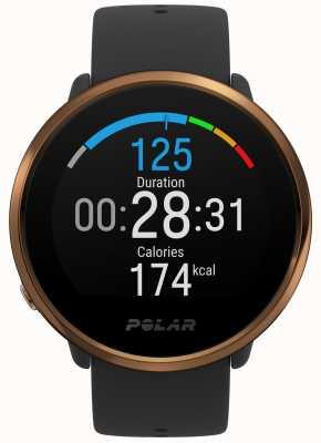 Polar | zapalić | czarno-miedziany zegarek fitness | m / l | czarna gumka 90079362