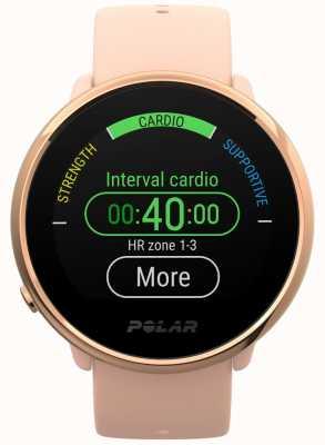 Polar | zapalić | różowo-różowy zegarek fitness | małe | różowa guma 90079898
