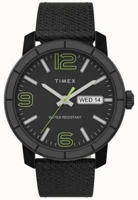 Timex | mod męski 44mm | czarny nylonowy pasek | czarna tarcza | TW2T72500