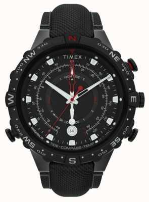 Timex | sprzymierzony 45mm | czarny pasek z tkaniny | czarna tarcza | TW2T76400