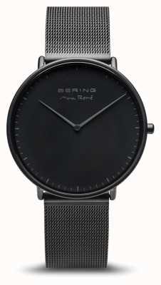 Bering | max rené | mata męska czarna | czarna stalowa bransoletka | 15738-123