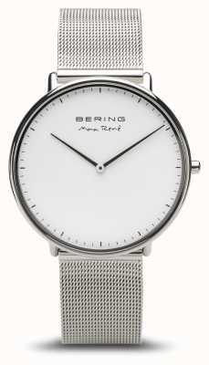 Bering | max rené | polerowane srebro męskie | srebrna bransoletka z siatki | 15738-004