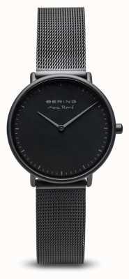 Bering | max rené | mata damska czarna | czarna stalowa bransoletka z siatki | 15730-123