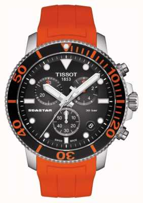 Tissot | seastar 1000 chronograf | pomarańczowy pasek | 300m T1204171705101
