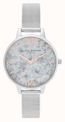 Olivia Burton | damskie | lastryko florals | srebrna bransoletka z siatki | OB16TZ06