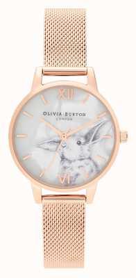 Olivia Burton | damskie | zwierzęta ilustrowane | króliczek | różowe złoto | OB16WL85