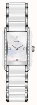 Rado Zintegrowany diamentowy, zaawansowany technologicznie ceramiczny zegarek z kwadratową tarczą R20215902