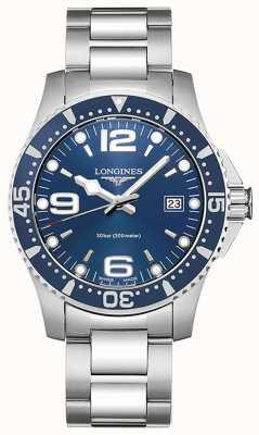 Longines | hydrokonquest | Obudowa 41 mm | niebieska tarcza | szwajcarski zegarek L37404966