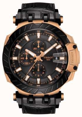 Tissot | wyścig t | automatyczny chronograf | czarny gumowy pasek | T1154273705101
