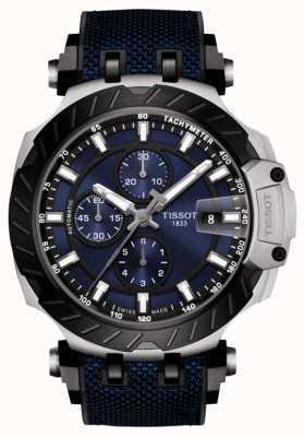 Tissot | wyścig t | automatyczny chronograf | niebieski gumowy pasek | T1154272704100