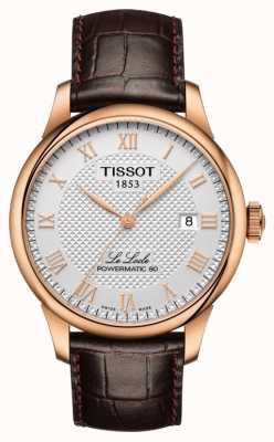 Tissot | le locle | powermatic 80 | brązowy skórzany pasek | T0064073603300