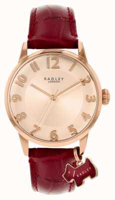 Radley Liverpool street | bordowy skórzany pasek | złota tarcza | RY2866