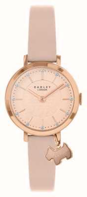 Radley Ulica Selby | różowy skórzany pasek | różowa / różowa złota tarcza | RY2864