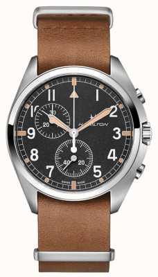Hamilton Khaki lotnictwo | pilot pionier | chronograf | brązowa skóra H76522531
