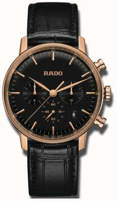 Rado Klasyczna, kwarcowa chronograf z czarną tarczą R22911165